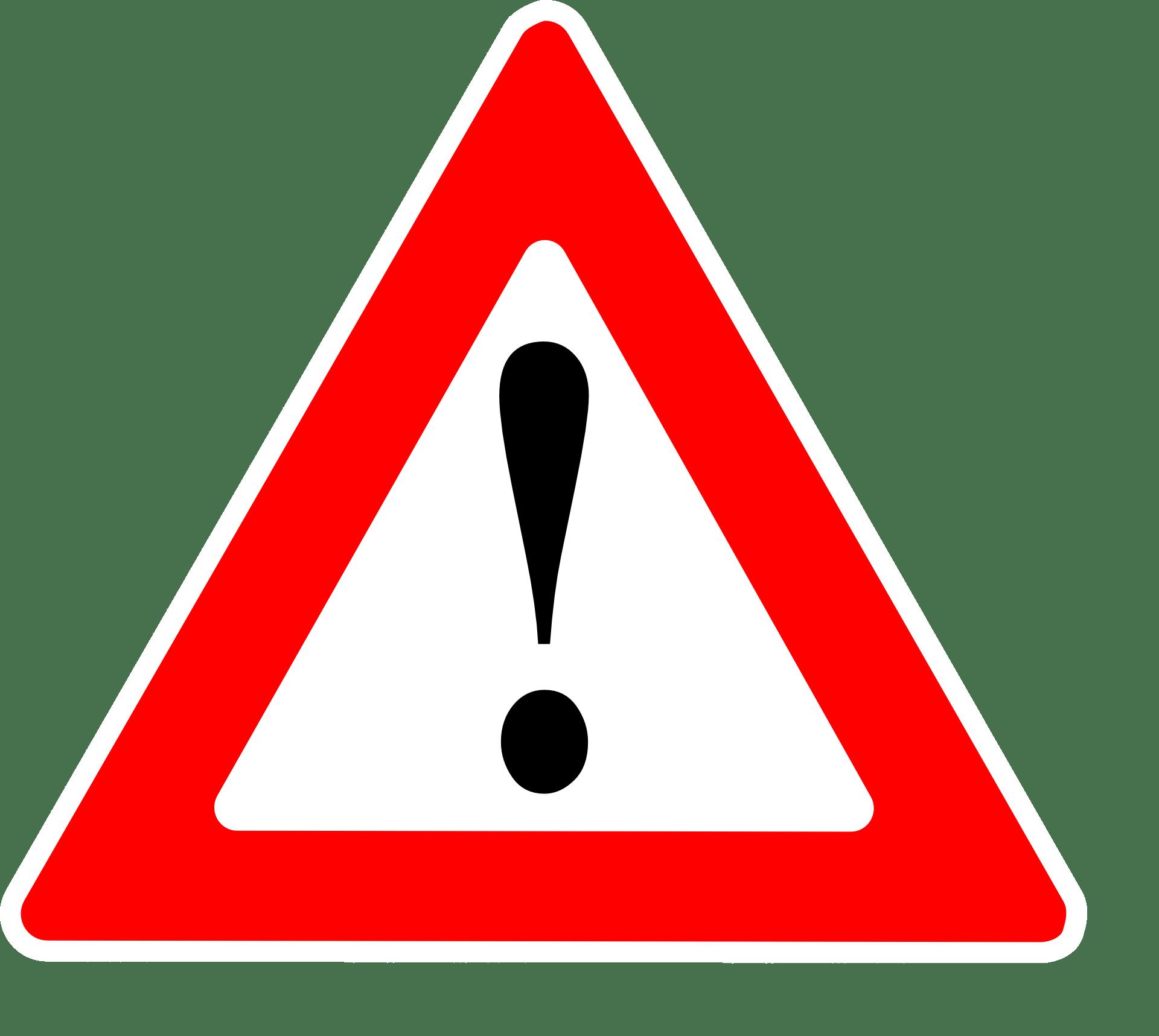 Warnschild (rotes Dreieck) mit Ausrufezeichen als Symbol für die Wichtigkeit der Kontraindikationen (Gegenanzeigen) gegen Hypnose
