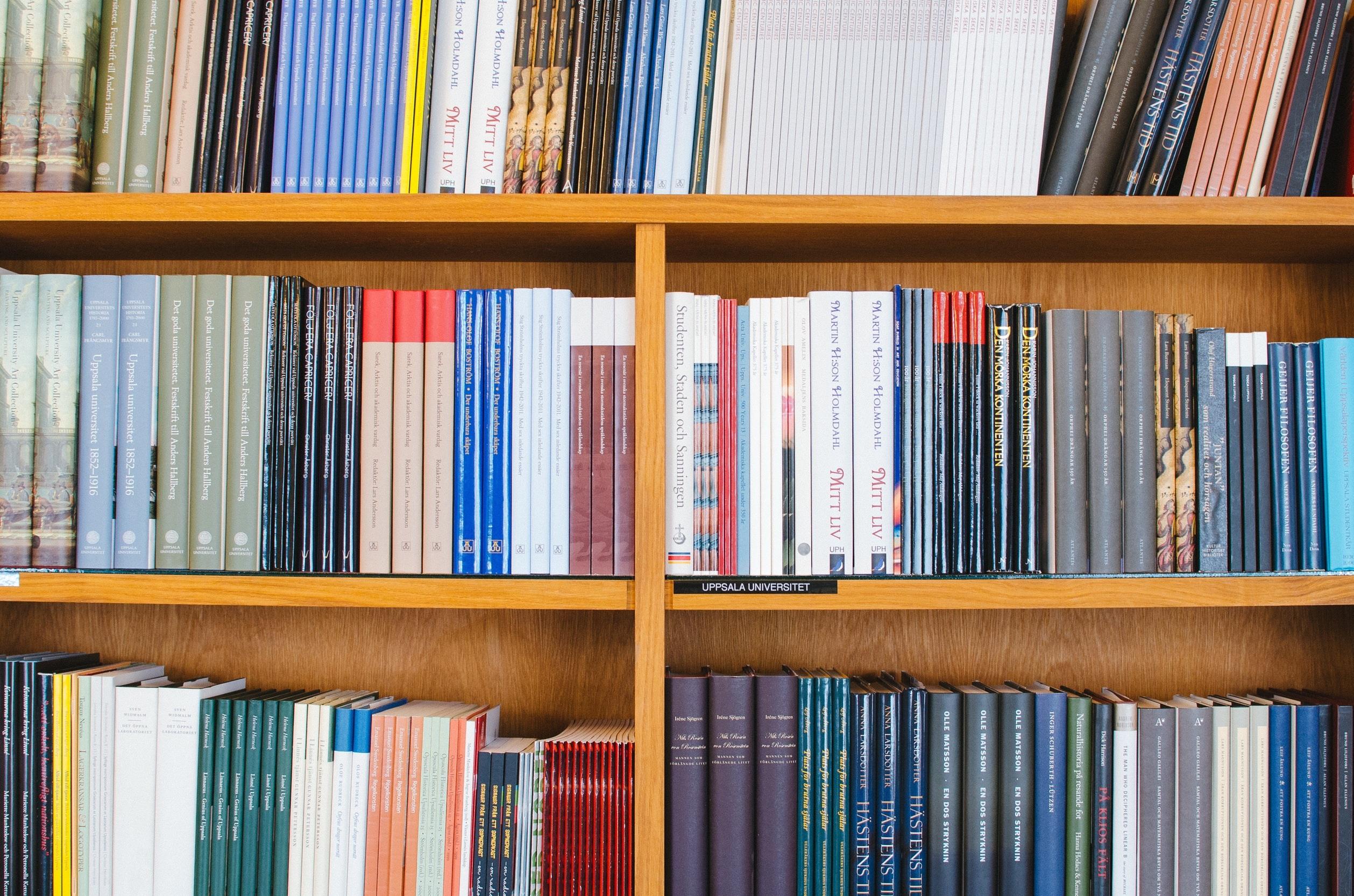 Bücherregal als Symbol für wissenschaftliche Arbeit
