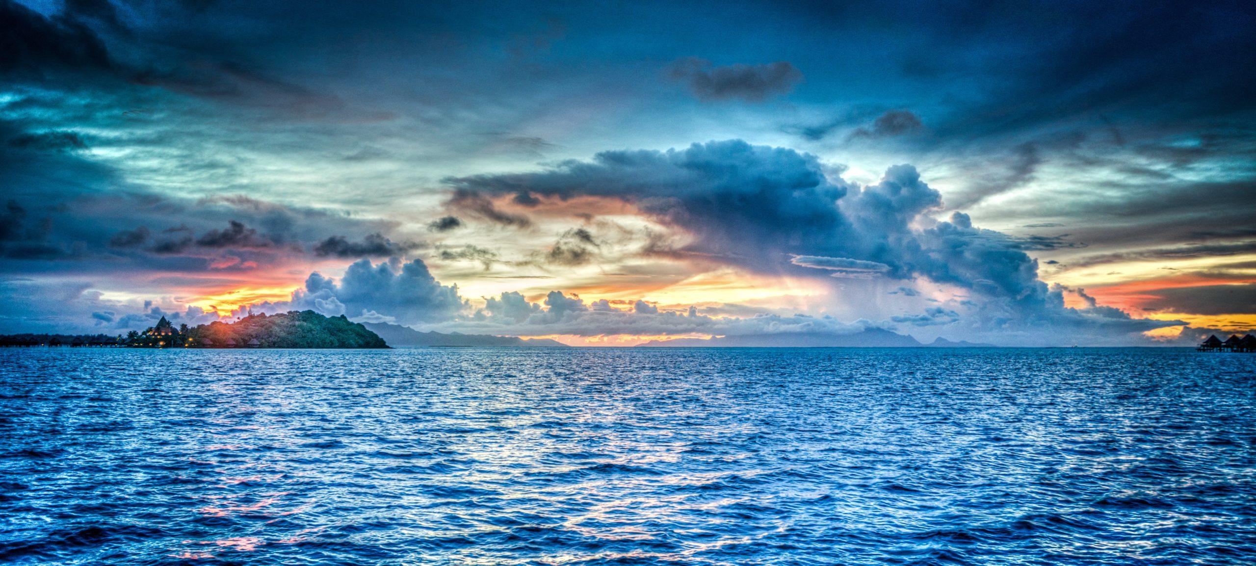 Blick aufs Meer, der Entspannung hervorrufen soll